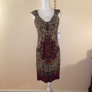 London Times multi color dress